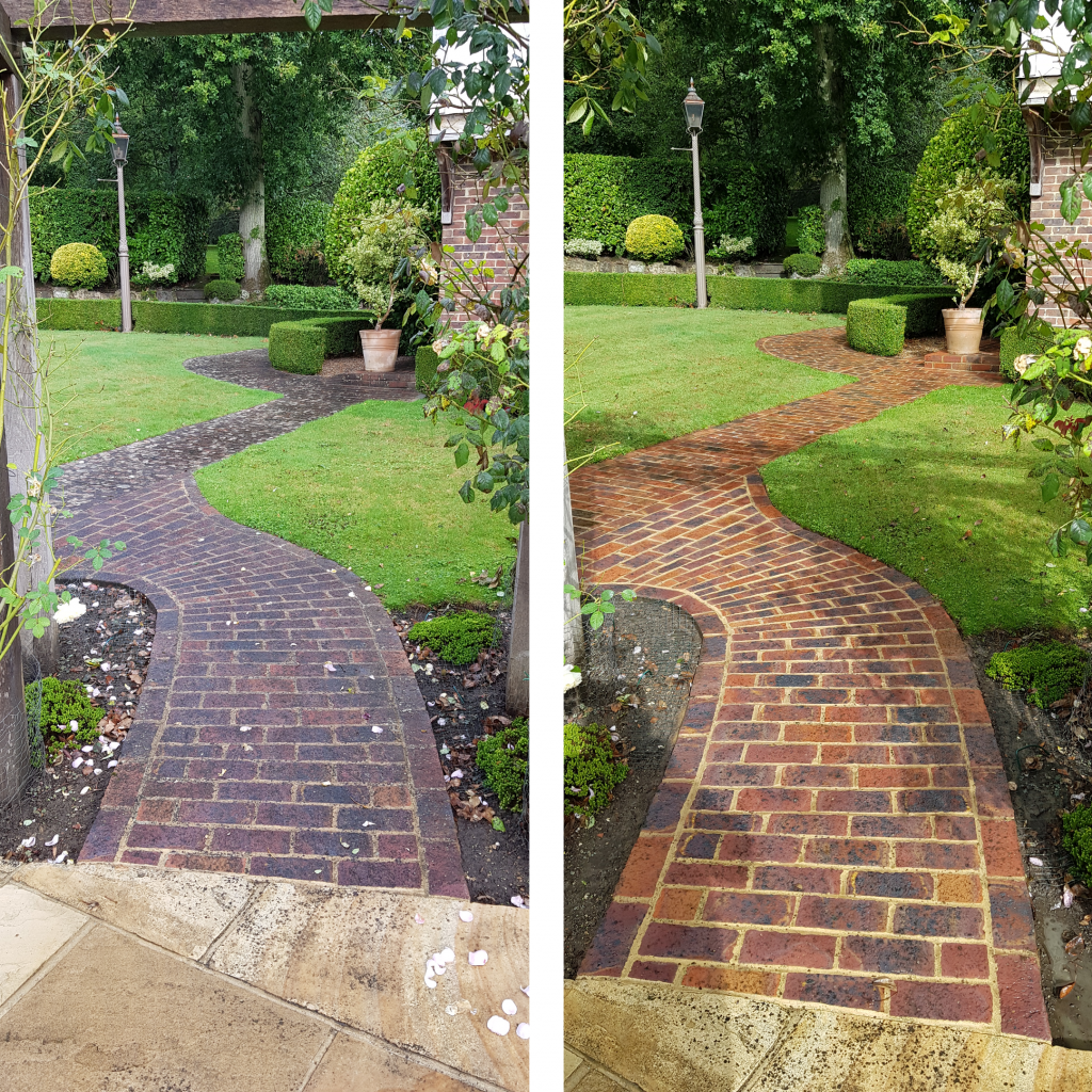Paths and Walkways cleaning today in Cuckfield West Sussex