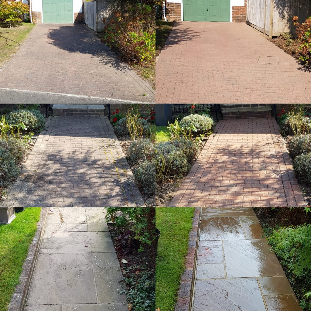 Driveway patio and pathway cleaning