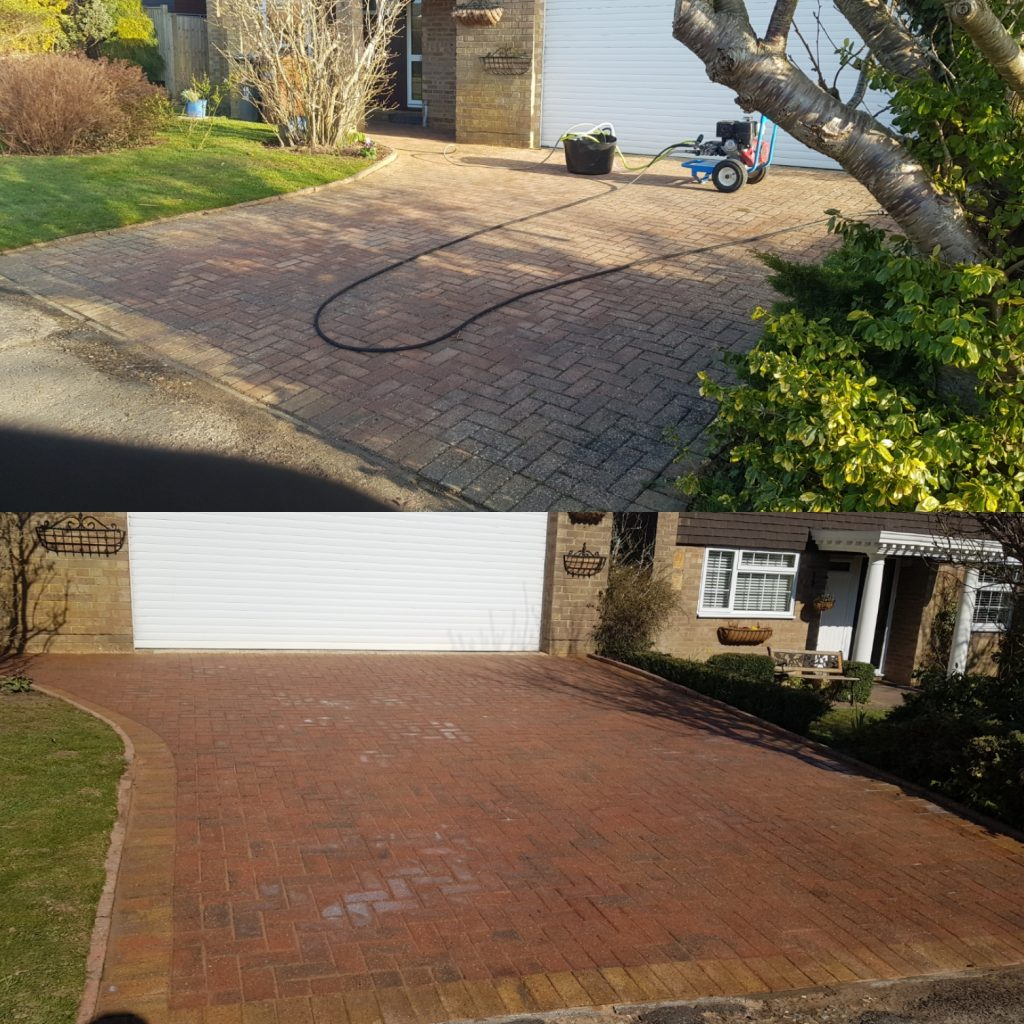 Driveway cleaned and sealed in Uckfield